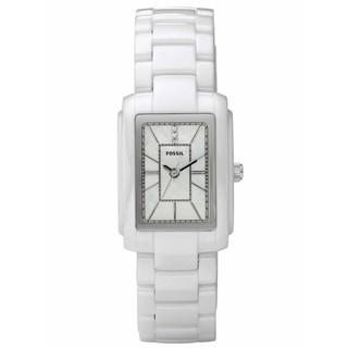 【FOSSIL】 經典白陶瓷對錶(陶瓷錶帶/白色/32MM)-CE1026