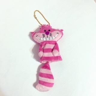 迪士尼 妙妙貓 娃娃吊飾 伸縮鑰匙圈