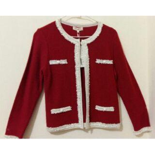 RED HOUSE雷赫斯-蕾絲滾邊長袖針織外套