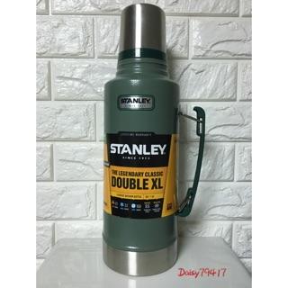 【美國Stanley】經典系列真空保溫瓶 1.9L(錘紋綠) 保溫24小時 保冷32小時