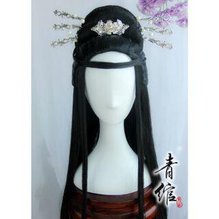 【青綰】古風漢服假髮 古裝貴妃演出假髮頭飾 白淺葉曦禾 cos cosplay,古裝