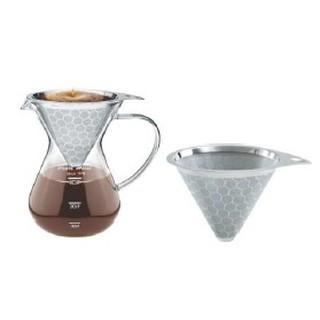 【苑裡經典咖啡】寶馬牌 巴魯尼手沖咖啡壺 雙網 400ml  手沖壺 沖泡咖啡壺 濾網咖啡壺