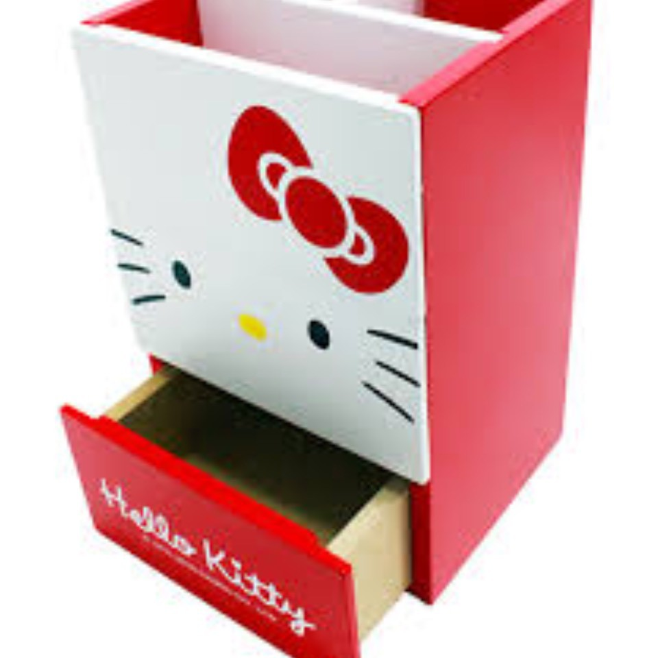 正版授權 三麗歐 Hello kitty 凱蒂貓 大臉兩抽收納盒 收納櫃 置物盒 置物櫃 AE110421