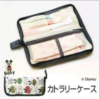 日本 Skater 米奇 嬰幼兒 餐具收納袋 餐具收納包
