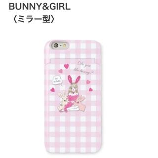 日系 夢幻 少女 手機殼 iphone6 卡片式手機殼  鏡子