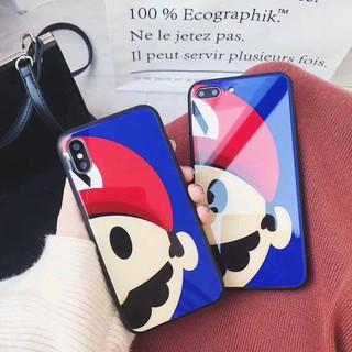 瑪莉歐玻璃背板 i6/6s (plus)、i7(plus)、i8(plus)、iphoneX 手機殼
