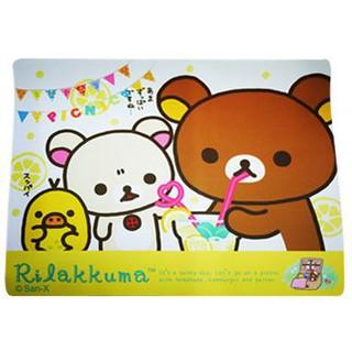 Rilakkuma 拉拉熊 懶懶熊 滑鼠墊 可愛超大鼠墊 大範圍滑鼠墊 光學滑鼠墊 止滑矽膠滑鼠墊 桌墊