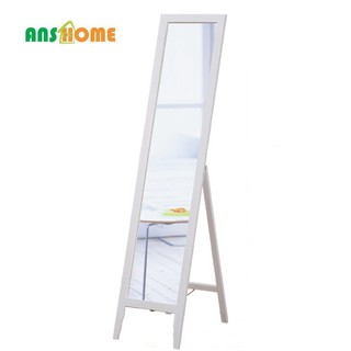 《Anshome》純潔淨白松木穿衣鏡 立鏡 全身鏡