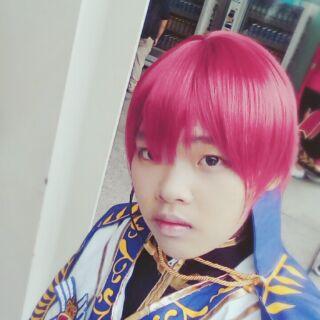 售 偶像夢幻祭假髮 朱櫻 司 司糖 cos