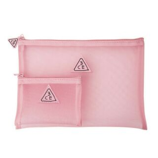 3CE PINK RUMOUR MESH POUCH 化妝包組合