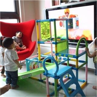 日本 三麗鷗 Sanrio 健力三層攀爬溜滑梯組 幼兒溜滑梯 室內溜滑梯 可折疊  輕量不佔空間 限自取
