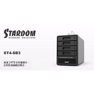 STARDOM ST4-SB3 3.5吋/2.5吋 USB3.0/eSATA 4bay硬碟外接盒