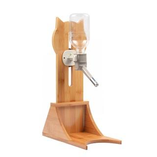 全新寵物木質飲水架(含滾珠瓶)