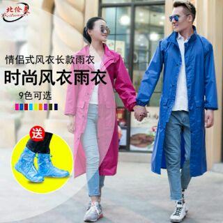 成人戶外雨衣 徒步防風雨衣 長款防雨風衣 騎行防風雨衣外套