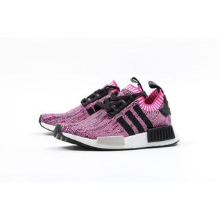 Adidas Nmd PK R1 桃紅 黑粉 黑 雪花 編織 針織 3M 反光 慢跑鞋 女鞋 BB2363