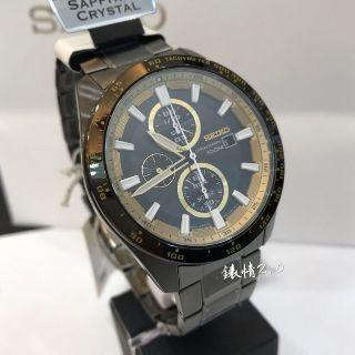 【錶情2.0】SEIKO 精工 Criteria 極速計時男錶  黑金/42.8mm SSC659P1