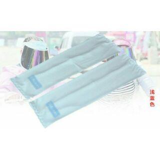 抗UV透氣彈性袖套 超涼爽袖套 長效涼感 持久舒適 迅速排濕散(藍色)