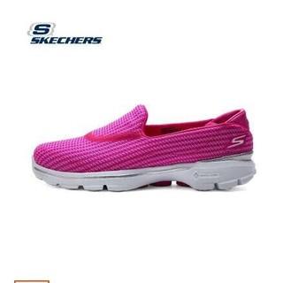 斯凱奇 skechers 跑鞋 運動鞋 慢跑鞋 輕便豆豆鞋跑鞋時尚百搭 女鞋紅色
