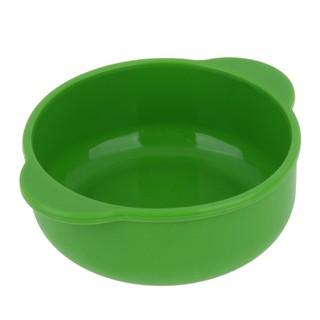 全新!廚房餐具 碗 兒童嬰兒食品級矽膠吸盤碗餐具 安全隔熱防摔嬰兒碗 綠色