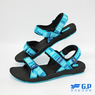 便宜控~~輕盈防水【G.P 女款時尚休閒織帶涼鞋】G8658W-藍色