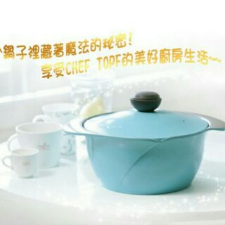 韓國 CHEF TOPF-La Rose玫瑰鍋-不沾雙耳湯鍋 同色蓋 28cm