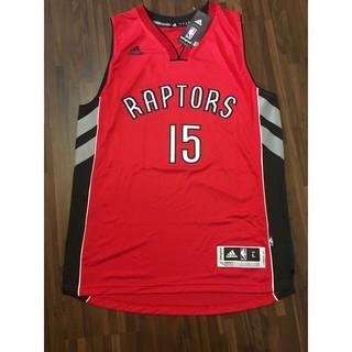 NBA球衣 Vince Carter 暴龍客場紅 Adidas Swingman 熱轉印 L號 全新含吊牌