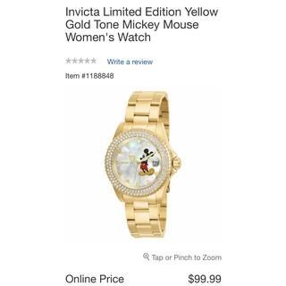 瑞士錶 Invicta 限量版米老鼠女錶