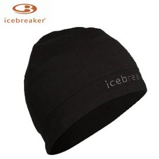 丹大戶外用品【Icebreaker】紐西蘭天然美麗諾羊毛 中性款素面LOGO保暖毛帽/毛線帽/抗菌 M450338 黑色