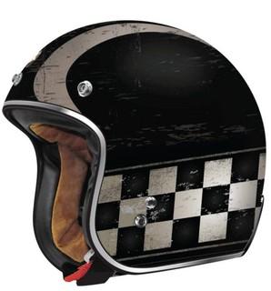 【魔速】TORC T-50 Champ 冠軍棋盤騎士帽/消光黑/3/4罩/半罩/DOT認證/偉士牌/哈雷/美式安全帽