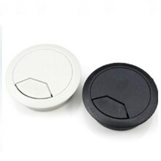 【出線盒】寸8 55mm 塑膠出線孔 (黑色、灰白色)線孔蓋 電腦孔 出線孔