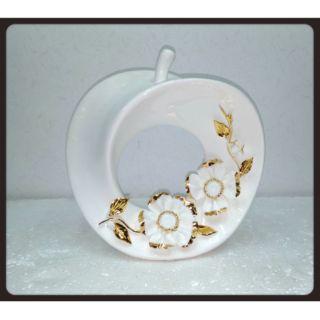 陶瓷白金金蘋果擺飾