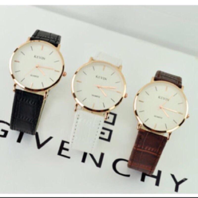 🔴夯人手一支 情人節對錶 情人節禮物 交換禮物 韓國 KEVIN牛皮質錶 手錶 日內瓦 非 卡西歐 阿曼尼 CK DW