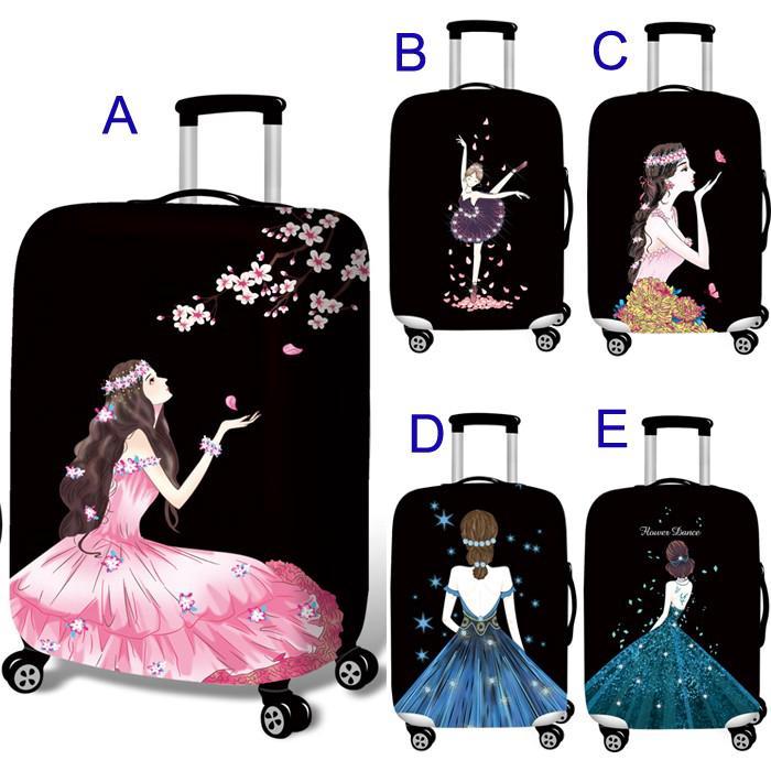 彈力行李箱保護套旅行箱套女神系列旅行箱保護套登機箱旅行箱防塵套拉桿箱套加厚耐磨四種尺寸1