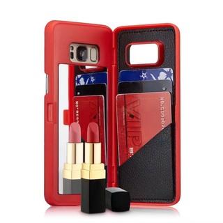 iPhone 6/6plus iPhone 7/7plus 三星s7/s7edge 三星s8/s8 plus鏡子插卡錢包