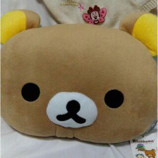 【娟娟小舖】拉拉熊頭抱枕  午安枕小靠腰墊
