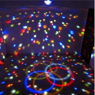 聲控舞臺燈光家用ktv閃光燈酒吧鐳射燈婚慶DJ燈舞廳彩燈LED魔球燈