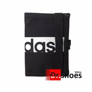 ☆鞋醫生☆ADIDAS 繽紛運動束帶兩折短夾 (黑色) 型號S99979