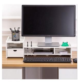 只能宅配螢幕架 螢幕座 筆電座鍵盤架 鍵盤收納底座 加大加厚 木質DIY電腦螢幕雙層收納增