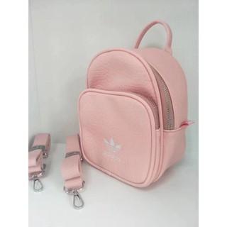 Adidas Mini Backpack BK6951 CF0060 迷你包 皮革 後背包 小包 黑 粉 背包 側背包