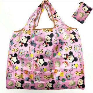 (現貨)日系超萌卡通超大肩背提袋 防水可收納/熊本蛋黃哥 迪士尼 龍貓kitty美樂蒂