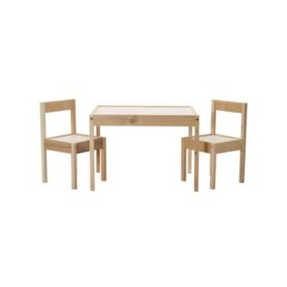 IKEA.兒童天地 LATT 桌椅組(1桌2椅) 餐桌/讀書桌/畫圖桌/兒童桌