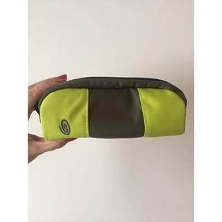 美國舊金山單車包品牌Timbuk2帆布防水雙色螢光黃筆袋/ 收納袋