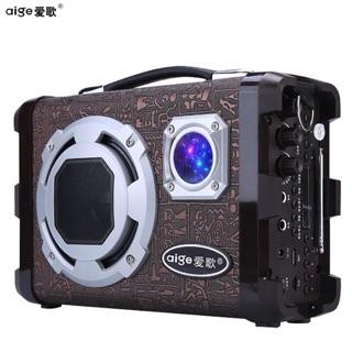 愛歌 Q69廣場舞音響插卡優盤小音箱迷你手提外放MP3播放器低音炮