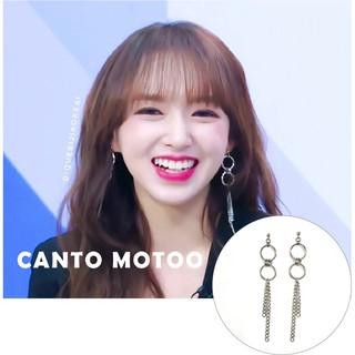 ❤️k定制            韓國 宇宙少女同款偶像練習生同款程瀟同款圈圈鏈條防過敏耳環