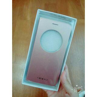 【現貨】全新OPPO F1S 5.5吋原廠掀蓋式手機殼(粉)