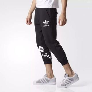 愛迪達adidas 運動褲男 夏季三葉草吳亦凡同款七分褲 BQ0918
