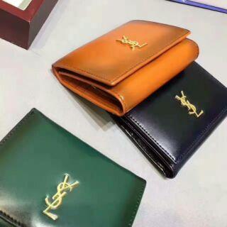 ysl 皮夾 小牛皮變色錢包 兩折中夾 女士皮夾 錢夾 8002 手拿包 真皮手包 zx186