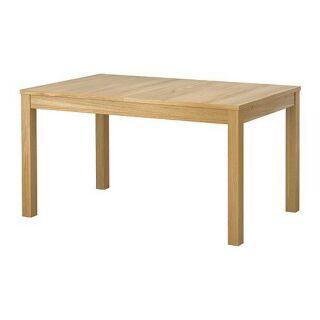 IKEA 實木貼皮延伸桌/多功能傢俱吃飯桌
