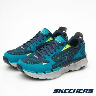 SKECHERS GO RUN ULTRA R2 藍 編織 厚底 慢跑鞋 女鞋