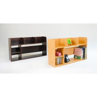 鬥相報 桌上型木質書架 寬80*深20*高45cm 收納書架 置物櫃 公文櫃